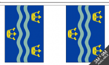 CAMBRIDGESHIRE (BLUE) BUNTING - 9 METRES 30 FLAGS